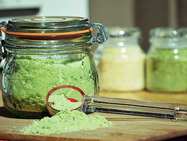 How to Preserve Homegrown Herbs with Sea Salt: In the Pantry