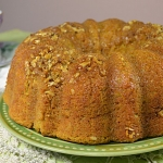 Pumpkin Bundt Cake With Whiskey Butter Sauce - Oh My! Moist, filled with great flavor and not too sweet. Just one more itsy bitsy piece, thanks.