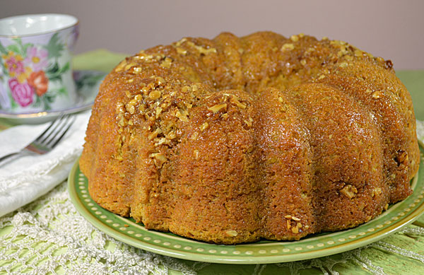 Pumpkin Bundt Cake With Whiskey Butter Sauce
