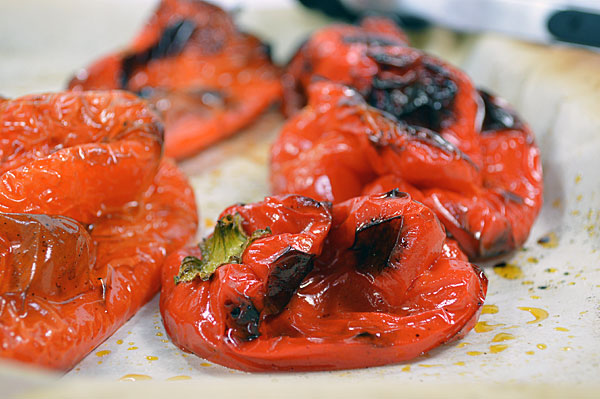 Roasted peppers are simply delicious  and add great flavor to sandwiches, salads and soup.