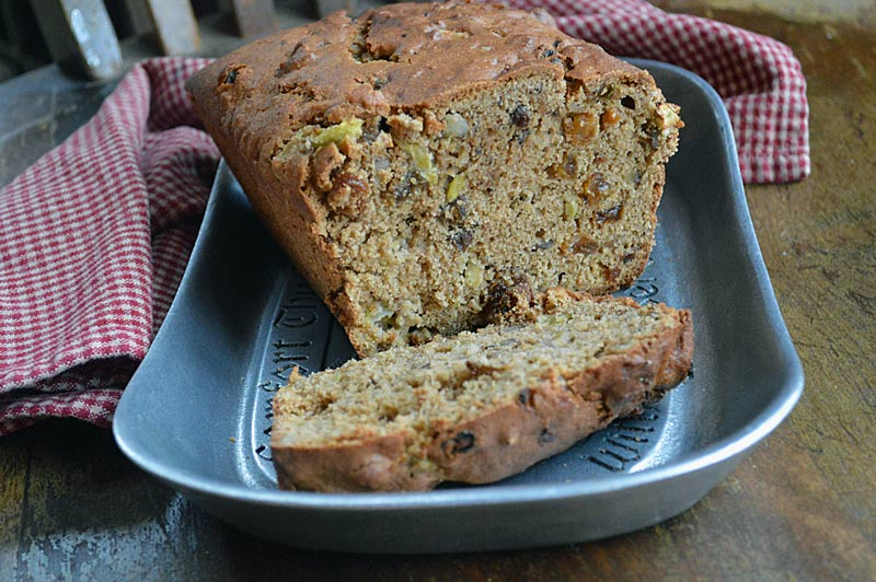 Whole Wheat Apple and Green Tomato Bread is bread is made with 100% white whole wheat flour but you would never know it by tasting it. This bread tastes even better the day after. Delicious!