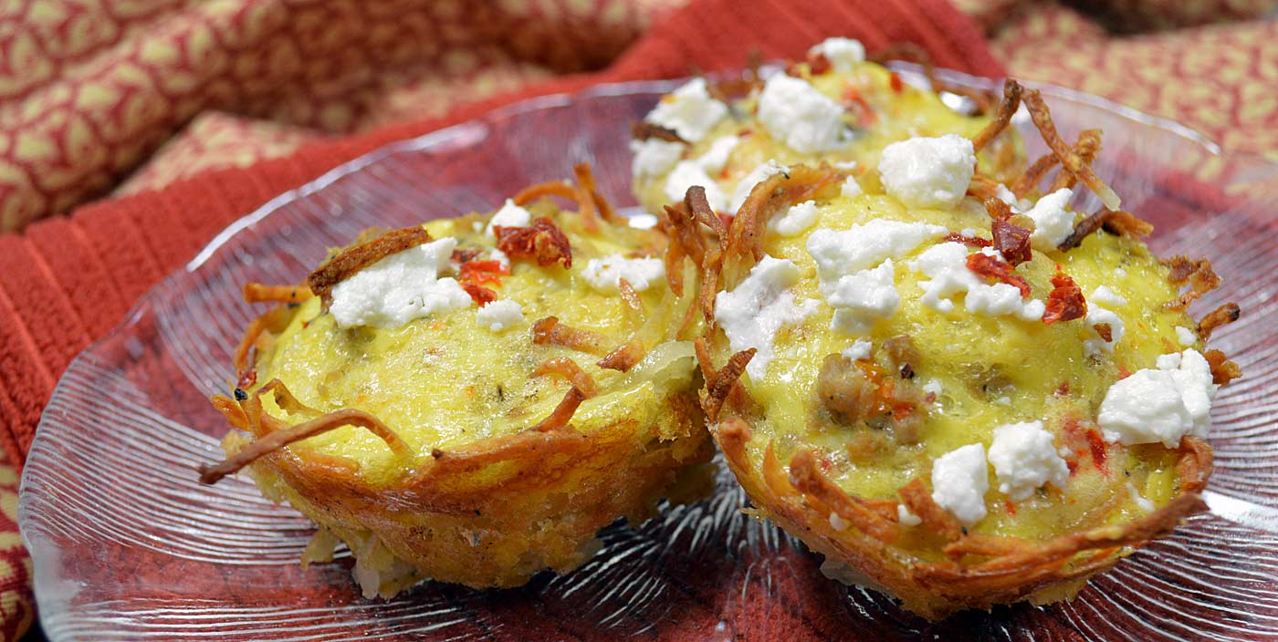 Potato and Egg Baskets: Gluten Free - Pure and Simple