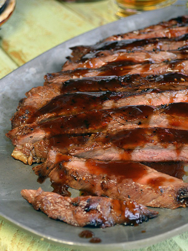 Bourbon Brown Sugar Glazed Flank Steak