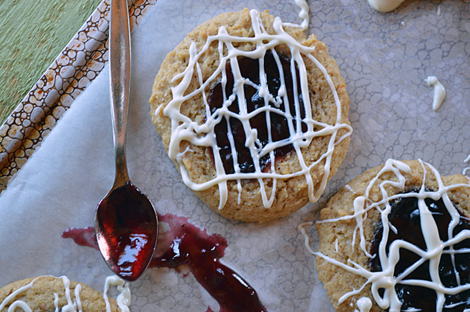 Lemon-Blackberry Tea Cookies