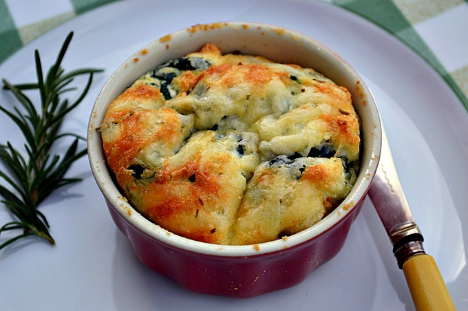 Spinach Parmesan Souffle