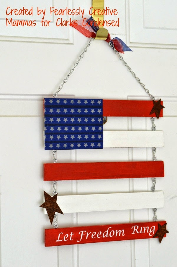 Independence Day Door Flag : Fearlessly Creative Mammas