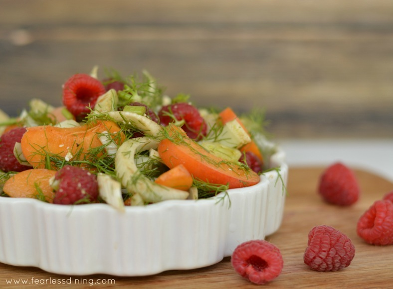 Raspberry, Fennel, Apricot and Fennel Salad: Fearless Dining