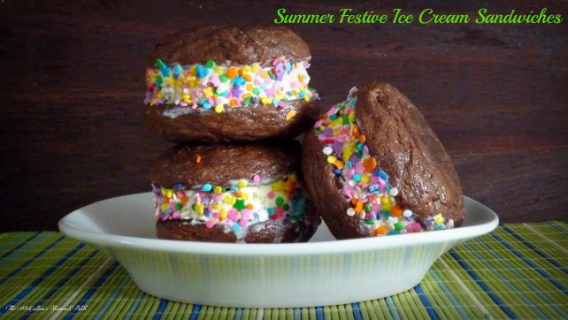 Let's Get Real Blog Hop Summer Festive Ice Cream Sandwiches: The McCallum's Shamrock Patch
