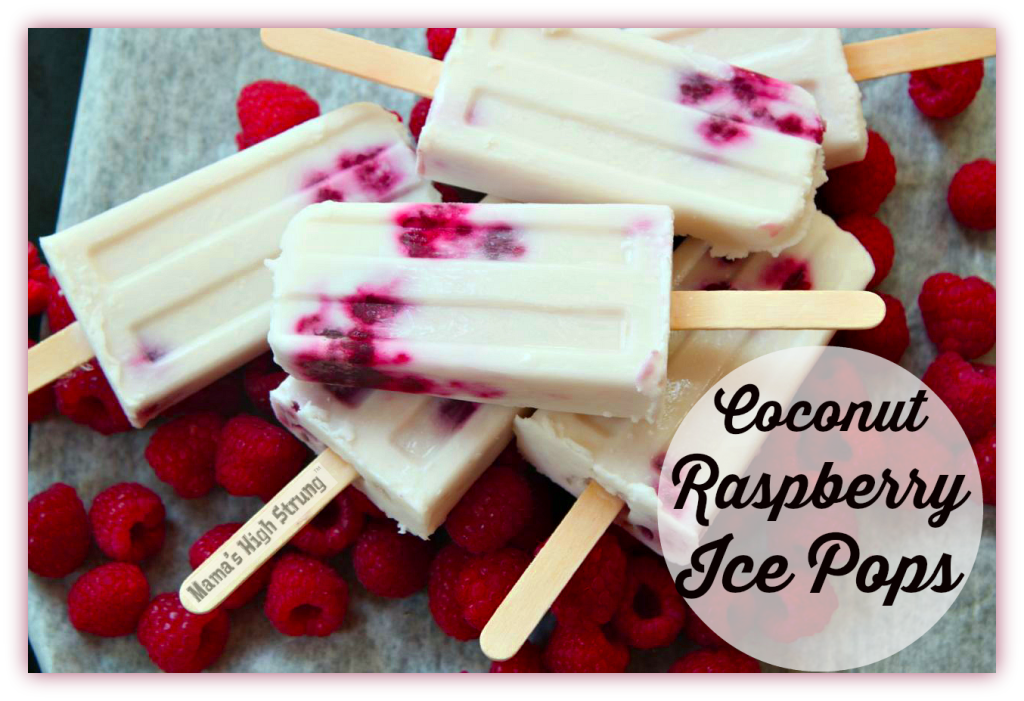 Monday Morning Review: Coconut Raspberry Ice Pops