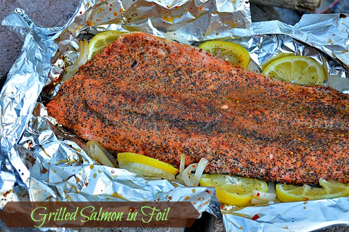 Simple whole food camp cooking guaranteed to impress grilled salmon in foil ccuart Gallery