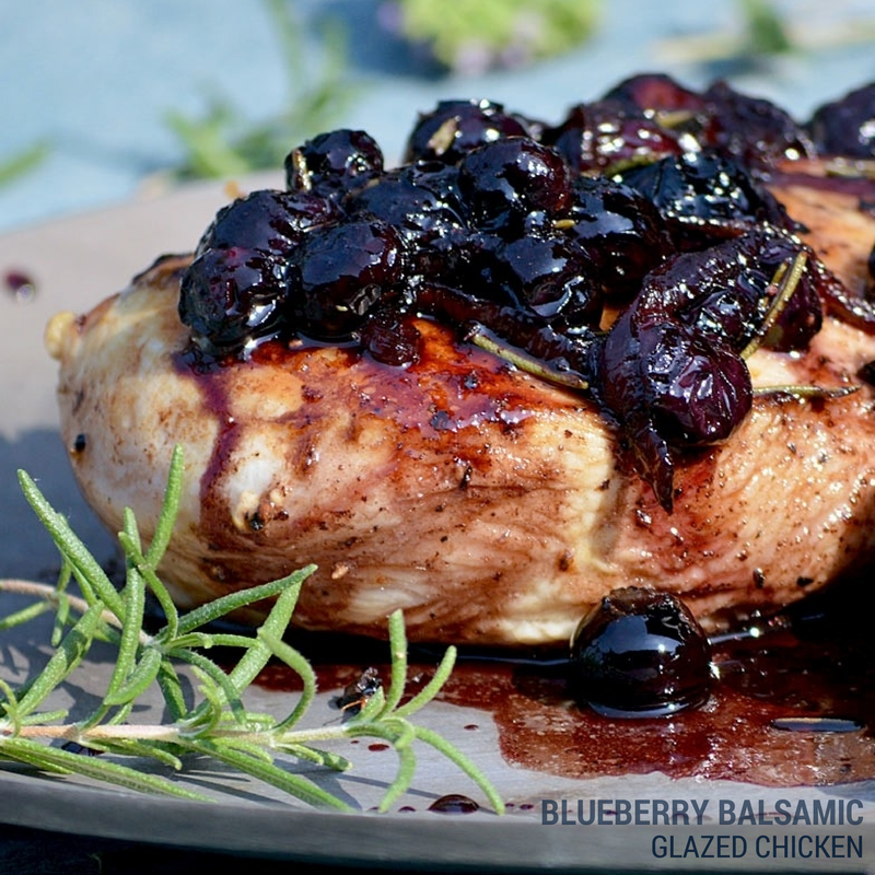 Blueberry Balsamic Glazed Chicken