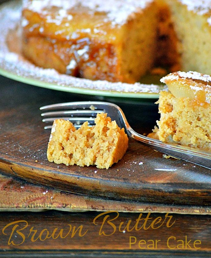 Brown Butter Pear Cake