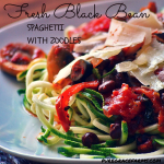 Fresh Black Bean Spaghetti With Zoodles #spaghetti #blackbeans #vegan #glutenfree
