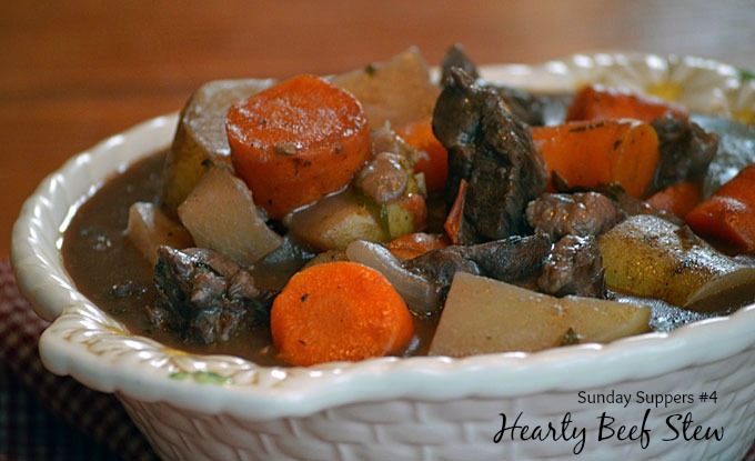 Sunday Suppers #4: Hearty Beef Stew Slow Cooker Recipe