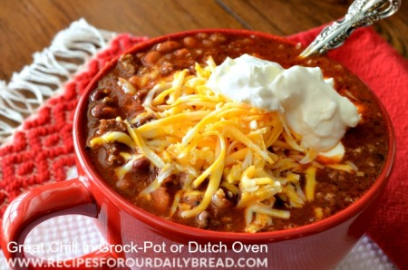 Three Cheers for Chili!