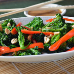 Spicy Stir Fried Broccoli and Peanut Sauce