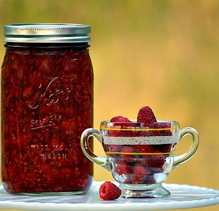 Preserve The Harvest Series; Home Canned Raspberry Pie Filling